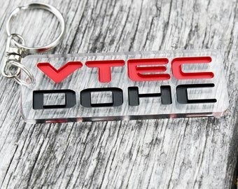 Honda DOHC VTEC  keychain SiR VTi Porte-clés Llavero JDM schlüsselanhänger