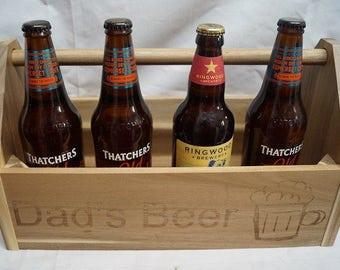Wooden trug, dads beer trug, grandads garden trug, garden lovers gift, personalised wooden trug, handled trug, beer trug, fathers day gift