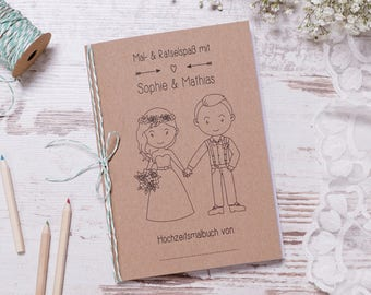 "Wedding Coloring Book PDF ""pretty"" Guest gift wedding"