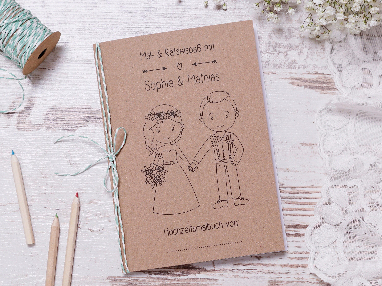 Malbuch für Kinder auf Hochzeit