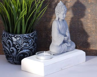 Large Buddha Tealight Candle Holder - Buddha Tealight Candle Holder - Buddha Candle Holder - Sitting Buddha Candle Holder - Buddha Gift
