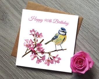 90th Birthday Card  - 90th Birthday - 90th Birthday Gift - 90th Birthday Gifts for Women - 90th Birthday for her - 90 Birthday - 90th - 90