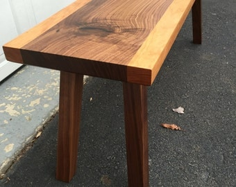 Walnut and Cherry Bench / Coffee Table