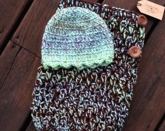 Newborn Swaddle Cacoon & Hat Set