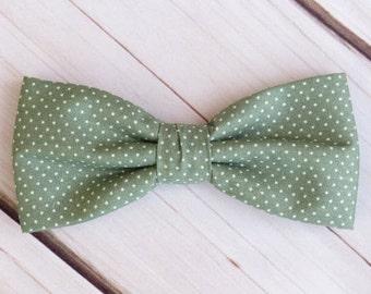 Salbei grün Fliege Polka Dot Spot Pre gebunden Hochzeit Bowtie Tasche Platz Männer Junge Baby Kleinkind Kinder Fliege für Bräutigam Trauzeugen
