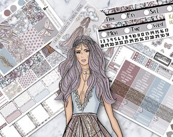 ULTIMATE Weekly Kit / Ethereal Heaven / Planner Stickers /  Fits Erin Condren Vertical & MAMBI / Glitter