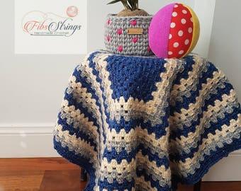 Handmade Crochet Baby Blanket | Baby Afghan | Granny Square Blanket