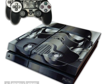 Playstation 4 PS4 - Star Wars - Black SHADOW TROOPER - Sticker Skin Kit