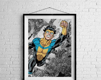 Invincible - Digitally Painted Tribute  - PRINTED - BUY 2 Get 1 FREE