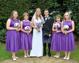 Elisa  Audry Hepburn inspired 50s Style Bridesmaid Dresses in Purple.