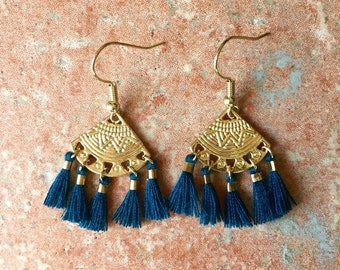 ALMA EARRINGS - blue duck