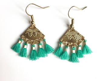 ALMA EARRINGS - Blue Lagoon
