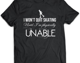 Roller skating T-Shirt. Roller skating tee present. Roller skating tshirt gift idea. - Proudly Made in the USA!