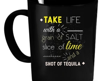Tequila Coffee Mug 11 oz. Perfect Gift for Your Dad, Mom, Boyfriend, Girlfriend, or Friend - Proudly Made in the USA! Tequila gift