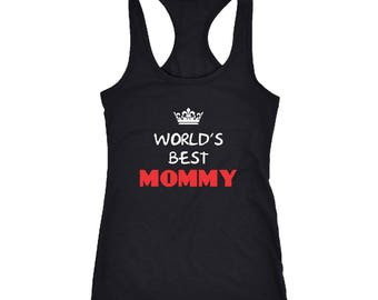 Mommy Racerback Tank Top T-Shirt. Funny Mommy Tank.