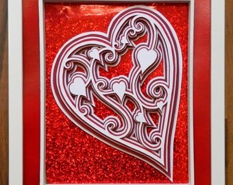 3D Paper Sculpture Heart of Hearts
