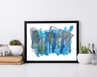 Blue Ivy // 11x14 Original Painting