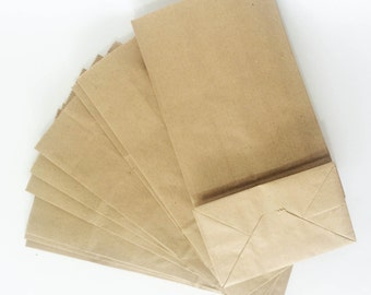 Kraft brown favour bags for birthday gifts, wedding bomboniere, party favours, lolly loot bags, baby shower, available 20, 50 or 100 bags