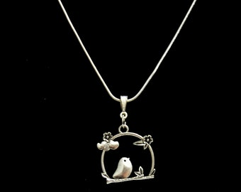 Bird  on a Swing  Pendant Necklace   Bird  Necklace Jewelry