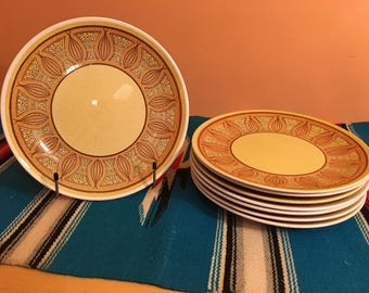 Taylor Smith Taylor Honey Gold / Atomic Onion Dinner Plates