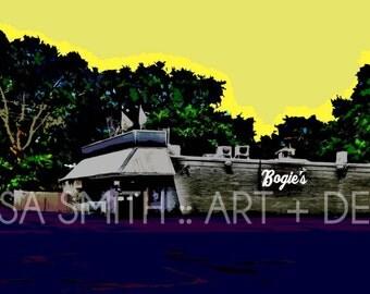 Bogie's Bar Print