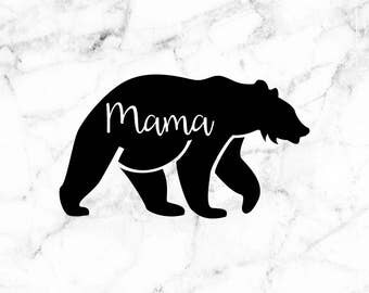 Mama bear decal, Bear stickers, Car decals decals for moms, Gifts for mom