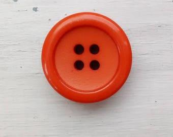 Orange Button. Vintage Button.
