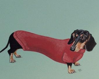 Dachshund Wall Art dachshund lover   etsy