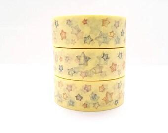 Washi tape star sketch yellow