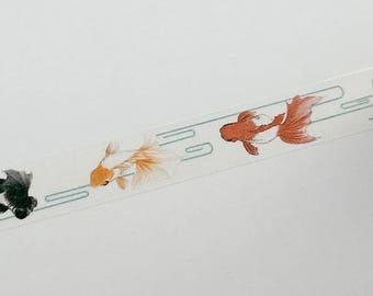 Design Washi tape fish Koi