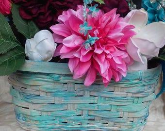 Magnolia,Hydrandra, Home,Decor,Basket,Bouquet,