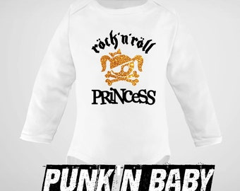 Rock'n Roll Princess onesie, Punk Baby Clothes, Baby Shower Gift, Unique Baby Gift, Punk Rock Infant Bodysuit