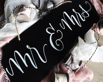 Mr & Mrs Wedding Chalkboard Sign