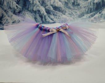 Pink Aqua lavender tutu. Full tutu. Cake smash tutu. Baby girl tutu. Smash the cake tutu. Birthday tutu. Fully customizable!!!!