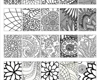 Printable Stickers - Coloring Boxes