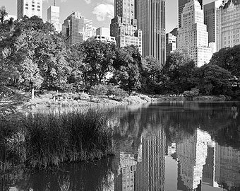 Black and White New York City Central Park Fine Art Photo Print (Unframed, Framed, Canvas, Metal or Acrylic) Large Wall Decor Art