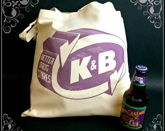 Heavy Duty Canvas Katz and Bestoff K&B Shopping Bag , Metairie, Louisiana, NOLA