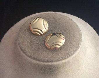 Vintage Goldtone  Clip Earrings