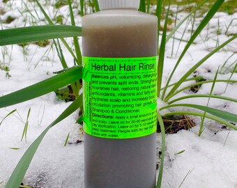 Herbal Hair Rinse- Raw & Organic-Shampoo and/or Conditioner replacement, pH Balancing.