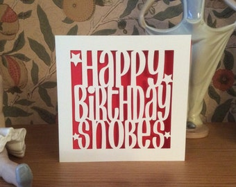 Papercut - Personalised Happy Birthday Card