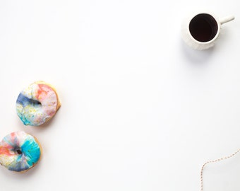 Styled Stock Photo / Galaxy Donuts + Coffee  / Digital Mockup