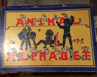 Vintage Animal Alphabet Puzzle