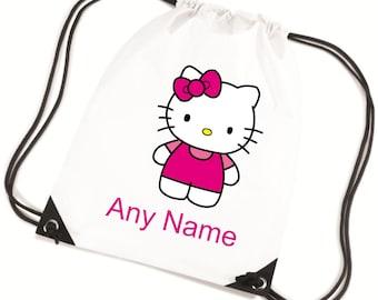 Personalised HELLO KITTY PE/Swim/Gym/School Bag - *Choice of colours*