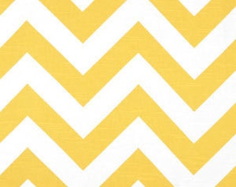 SALE - Fabric Destash Home Decor Fabric - Premier Prints Yellow Slub Chevron- Listing is for the remnant 1 yard and 27""