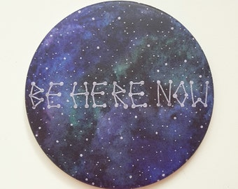 """pocket mirror """"be here now"""""""