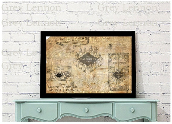 Harry Potter Fan Marauder's Map Photoshop Brushes Set Instant Download for Digital and Paper Crafts
