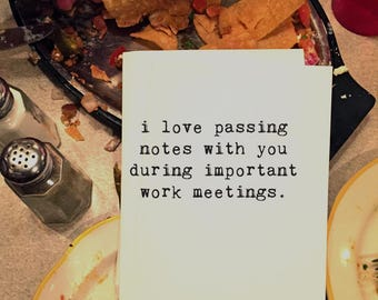 Greeting Cards, Co-Worker Card, Funny Card, Wholesale, Friend Card, Card for Him, Card for Her, Work Buddy, Work Meetings