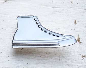 Large Converse All Star Style Sneaker Shoe Lapel Pin Pinbacks Single Post Cool Awesome