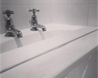 White-Wash Bath Shelf Caddy