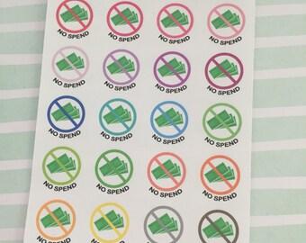 Mini No Spend Stickers
